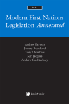 Modern First Nations Legislation Annotated, 2022 Edition cover