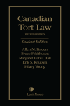 Canadian Tort Law, 11th Edition – Student Edition cover