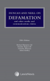 Duncan and Neill on Defamation and Other Media and Communications Claims Fifth edition cover