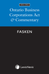 Ontario Business Corporations Act & Commentary, 2021/2022 Edition cover