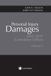 Personal Injury Damages, 2001-2021 Cumulative Edition, Volumes 1 & 2 cover