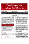 Employment and Labour Law Reporter- Newsletter cover