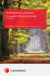 Drafting Wills in Canada: A Lawyer's Practical Guide, 3rd Edition + USB cover