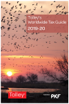 Tolley's Worldwide Tax Guide 2019-20 cover