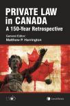 Private Law in Canada: A 150-Year Retrospective cover
