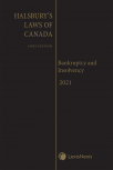Halsbury's Laws of Canada – Bankruptcy and Insolvency (2021 Reissue) cover