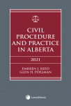 Civil Procedure and Practice in Alberta, 2021 Edition  cover