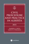 Civil Procedure and Practice in Alberta, 2021 Edition  cover
