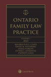 Ontario Family Law Practice, 2022 Edition (Volume 1) + Related Materials (Volume 2) cover