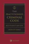 The Practitioner's Criminal Code, 2022 Edition – Student Edition + E-Book cover