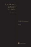 Halsbury's Laws of Canada – Civil Procedure (2021 Reissue) cover
