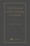 The Doctrine of Res Judicata in Canada, 5th Edition cover