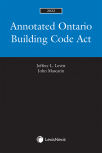 Annotated Ontario Building Code Act, 2022 Edition cover