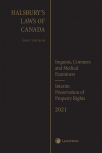 Halsbury's Laws of Canada – Inquests, Coroners and Medical Examiners (2021 Reissue) / Interim Preservation of Property Rights (2021 Reissue) cover