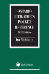 Ontario Litigator's Pocket Reference, 2022 Edition cover