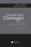 Personal Injury Damages, 2001-2021 Cumulative Edition (2 Volumes) cover