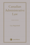 Canadian Administrative Law, 3rd Edition cover