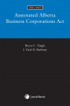 Annotated Alberta Business Corporations Act, 2021/2022 Edition cover