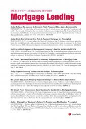 Mealey's Litigation Report - Mortgage Lending cover
