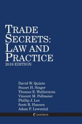 Trade Secrets: Law and Practice, 2019 Edition cover