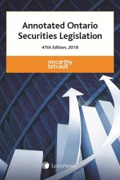 Annotated Ontario Securities Legislation, 47th Edition, 2018 cover