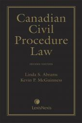 Canadian Civil Procedure Law, 2nd Edition cover
