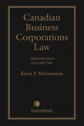 Canadian Business Corporations Law, 3rd Edition – Volume 2 cover