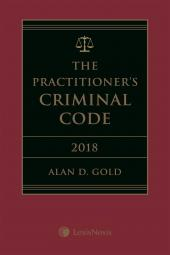 The Practitioner's Criminal Code, 2018 Edition + E-Book cover