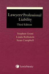 Lawyers' Professional Liability, 3rd Edition cover