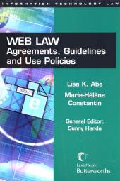 Web Law - Agreements, Guidelines and Use Policies cover