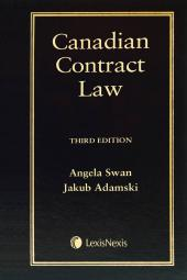 Canadian Contract Law, 3rd Edition cover