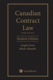 Canadian Contract Law, 3rd Edition, Student Edition cover