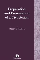 Preparation and Presentation of A Civil Action cover