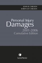 Personal Injury Damages 2001-2006 Cumulative Edition cover