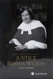 Reflections on the Legacy of Justice Bertha Wilson cover