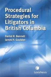 Procedural Strategies for Litigators in British Columbia cover