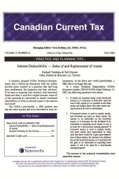 Canadian Current Tax - Newsletter + PDF cover