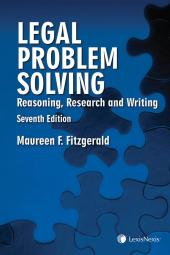 Legal Problem Solving – Reasoning, Research and Writing, 7th Edition cover