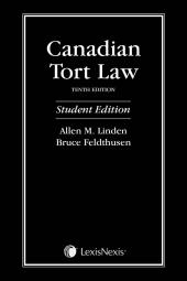 Canadian Tort Law, 10th Edition – Student Edition cover