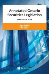 Annotated Ontario Securities Legislation, 48th Edition, 2018 cover