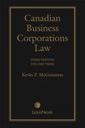 Canadian Business Corporations Law, 3rd Edition – Volume 3 cover