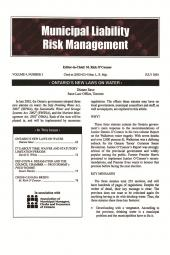 Municipal Liability Risk Management - Newsletter + PDF cover