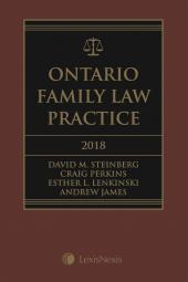 Ontario Family Law Practice, 2018 Edition + CD + Supplement cover