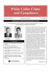 White Collar Crime and Compliance – Newsletter cover