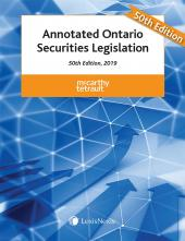 Annotated Ontario Securities Legislation, 50th Edition, 2019 cover