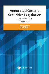 Annotated Ontario Securities Legislation, 54th Edition, 2021 (2 Volumes) cover