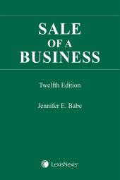 Sale of a Business, 12th Edition + CD cover