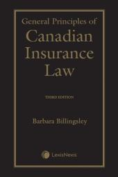 General Principles of Canadian Insurance Law, 3rd Edition cover