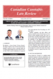 Canadian Cannabis Law Review – PDF cover
