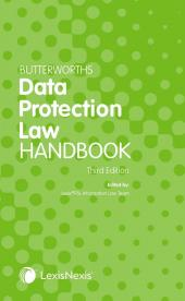 Butterworths Data Protection Law Handbook Third edition cover